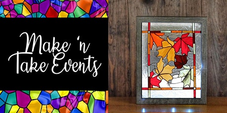 Stained Glass Shadow Box Frame - Fall Leaves tickets