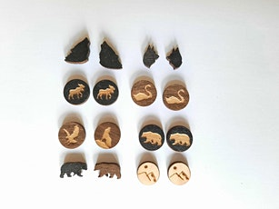 Wood Stud Earrings - Laser Cutting & Jewelry Making Basics tickets