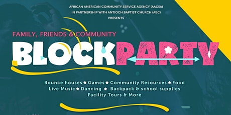 AACSA Block Party & Pack-a-Back Giveaway 2021 tickets