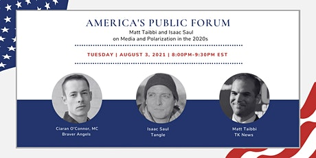 APF: Matt Taibbi and Isaac Saul on Media and Polarization in the 2020s Tickets
