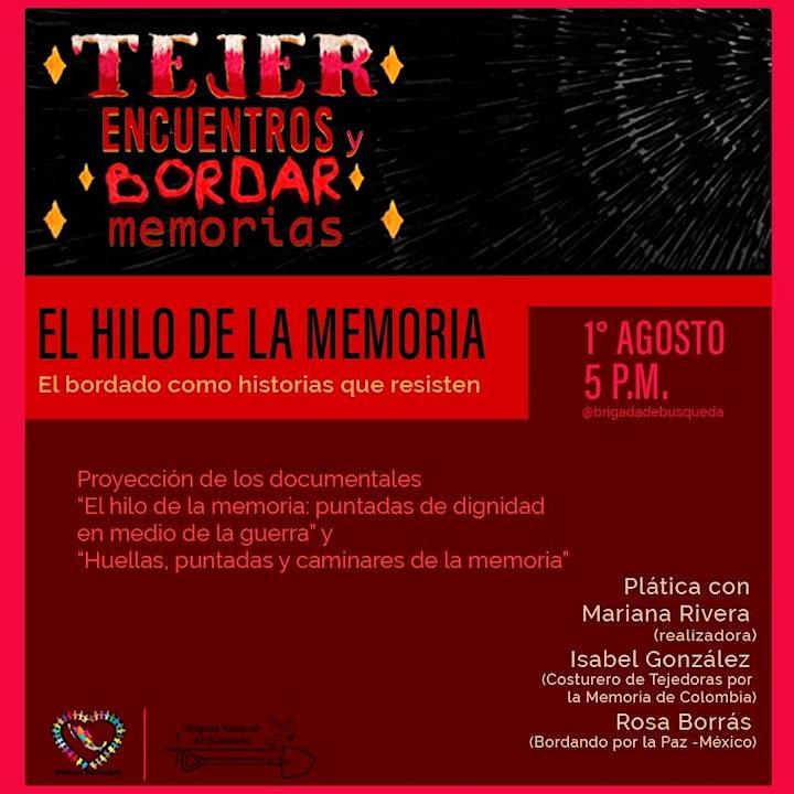 TEJER ENCUENTROS Y BORDAR MEMORIAS image