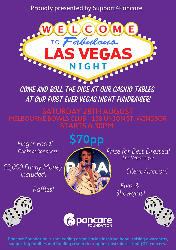 Las Vegas Night Fundraiser | Proudly hosted by Support4Pancare image