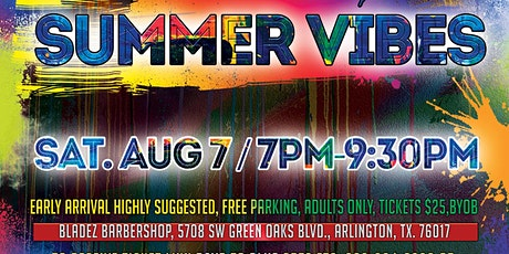 PAINT PARTY SUMMER VIBES Sponsored by BLADEZ Barbershop tickets