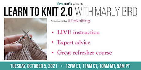 Learn to Knit 2.0 with Marly Bird tickets