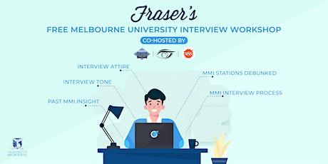 Free University of Melbourne Interview Workshop | Online tickets