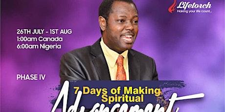 MAKING SPIRITUAL ADVANCEMENT tickets
