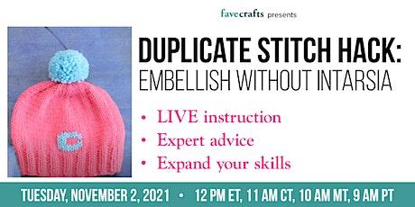 Duplicate Stitch Hack: Embellish Without Intarsia tickets