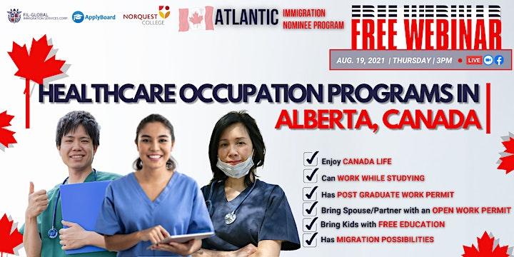 FREE WEBINAR:  HEALTHCARE OCCUPATION PROGRAMS IN ALBERTA CANADA! image