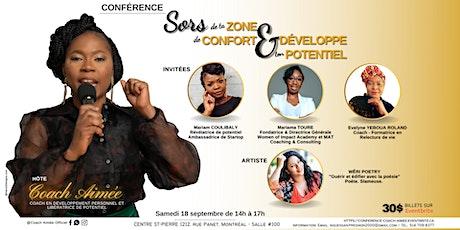 SORS DE TA ZONE DE CONFORT ET DÉVELOPPE TON POTENTIEL tickets