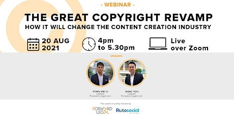 The Great Copyright Revamp: How It'll Change The Content Creation Industry tickets