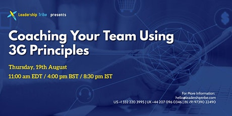 Coaching Your Team Using 3G Principles - 190821 -  Israel tickets