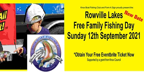2021 Rowville Lakes Free Family Fishing Day  Sunday 12th Sept 2021 tickets