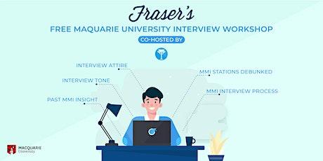 Free Macquarie University Interview Workshop | Online tickets