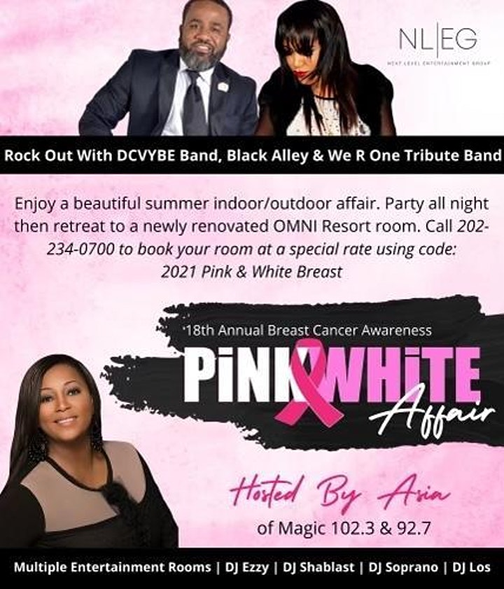 DAVE HOLLISTER & BIG DADDY KANE LIVE@  THE 18TH ANNUAL PINK & WHITE  AFFAIR image