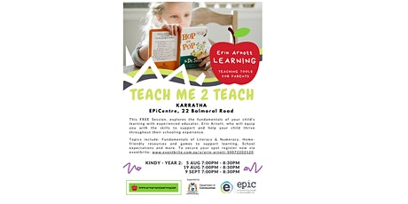 Teach Me 2 Teach Parent Workshop (Kindy-Year 2) tickets