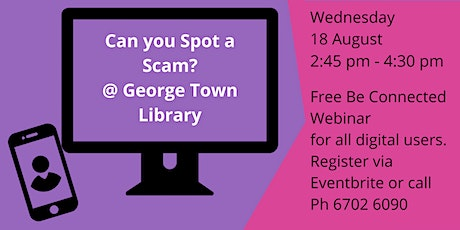 Can you spot a scam? @ George Town Library tickets