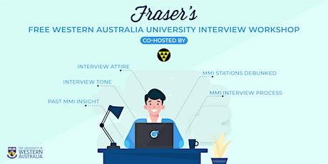 Free University of Western Australia Interview Workshop | Online tickets
