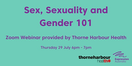 Sex, Sexuality and Gender 101 tickets