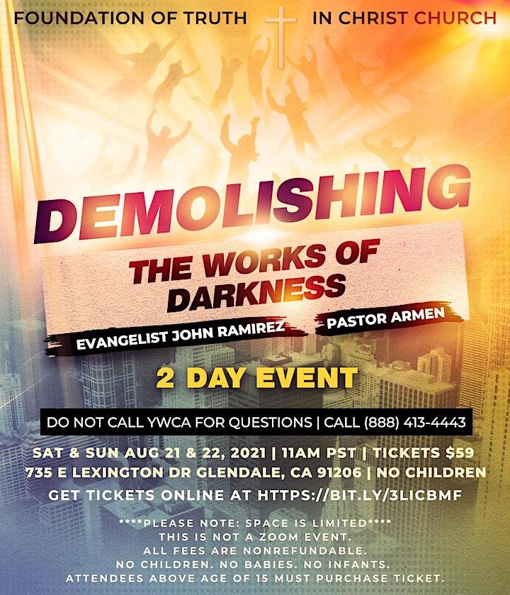 Demolishing the Works of Darkness W/ Evangelist John Ramirez & Pastor Armen image