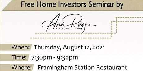 Free Home Investors Seminar by Ana Roque tickets