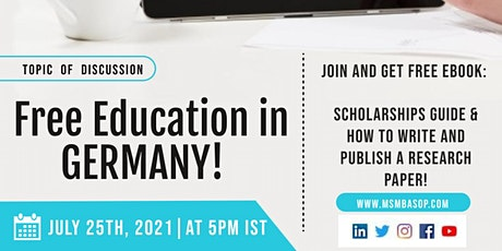 General Discussion - Free Education in Germany! tickets