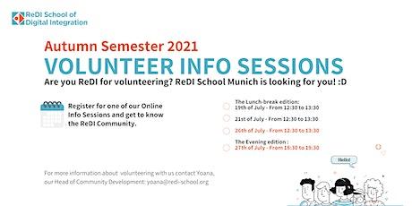 ReDI Munich Volunteer Info Session (Autumn Semester 2021) Tickets