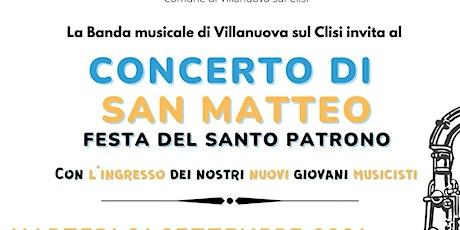 CONCERTO DI SAN MATTEO - Festa del Santo Patrono biglietti