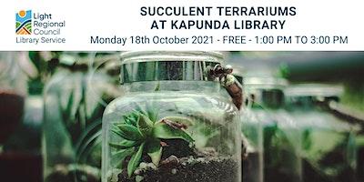 Succulent Terrariums @ Kapunda Library