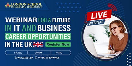Webinar for a future in IT and Business  Career Opportunities in the UK tickets