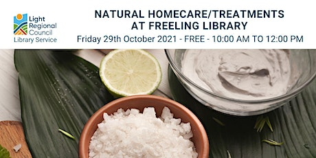 Natural Homecare/Treatments @ Freeling Library tickets