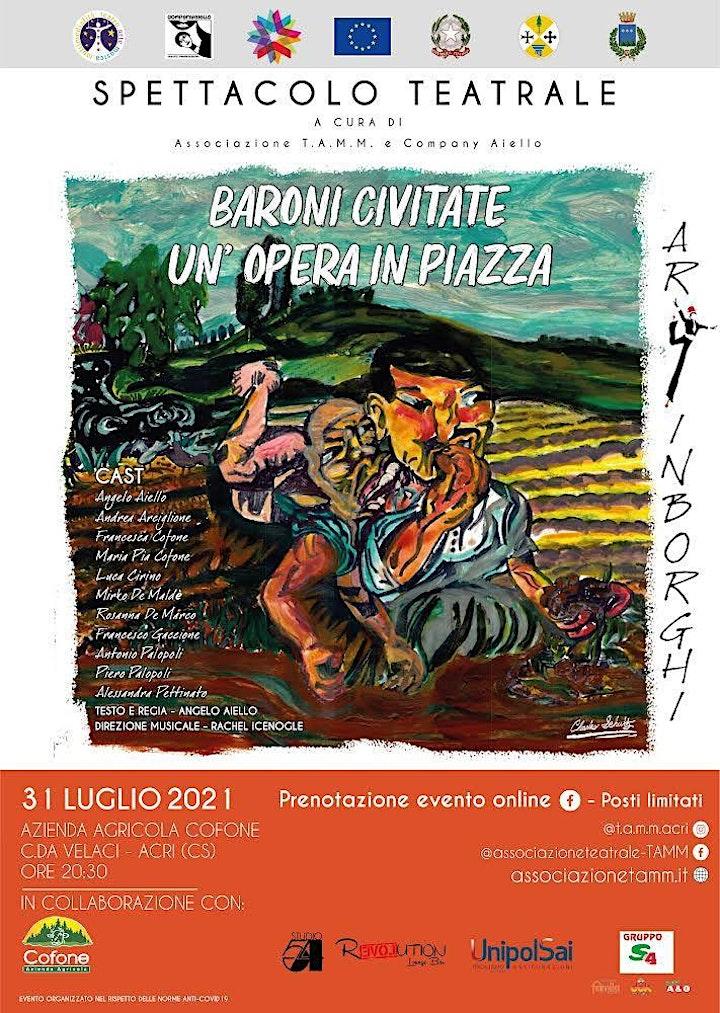 Immagine BARONI CIVITATE - UN'OPERA IN PIAZZA