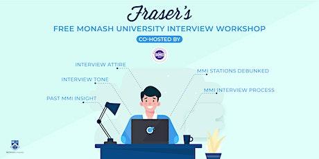 Free Monash University Interview Workshop | Online tickets