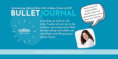 Bulletjournaling mit starker Coachingkomponente · wir planen für Oktober Tickets