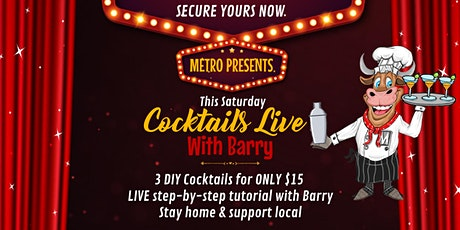 Cocktails Live W/ Barry - Saturday 24th tickets