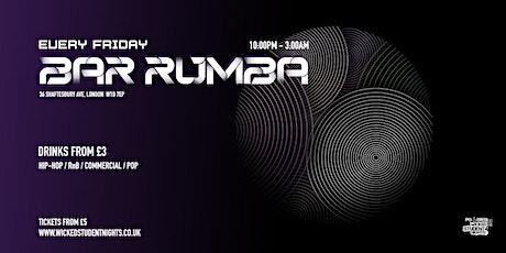 Bar Rumba // Every Friday // £3 Drinks tickets