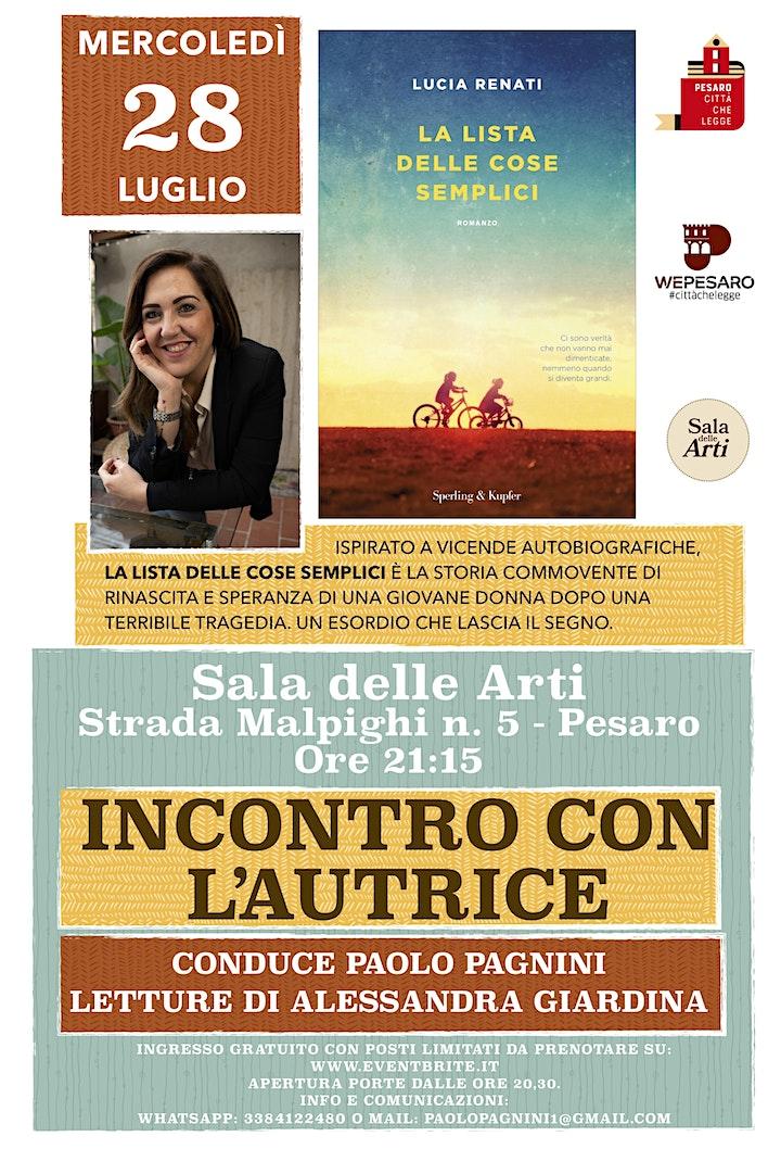 Immagine La lista delle cose semplici - di Lucia Renati - Incontro con l'autrice