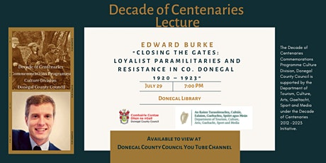 """""""Closing the Gates:  Loyalist Paramilitaries and Resistance in Co. Donegal"""" tickets"""