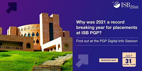 ISB PGP Digital Info-session | 11.30 AM - 1.30 PM tickets