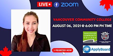 FREE WEBINAR: VANCOUVER COMMUNITY COLLEGE tickets