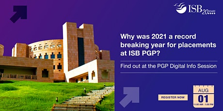 ISB PGP Digital Info-session | Ahmedabad | 11 AM - 1 PM tickets