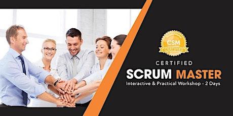 CSM Certification Training in Burlington, VT tickets
