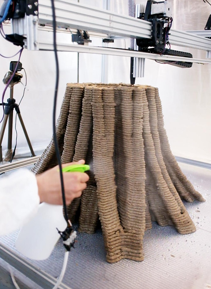 3D Printed Furniture made from Waste & Fungi - Exhibition & Performance image