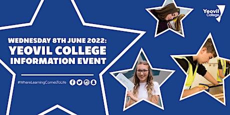 Yeovil College Information Evening - June 2022 tickets