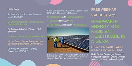 Renewable Energy for Resilient Healthcare  in Nigeria tickets