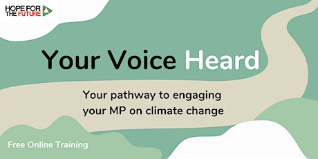 Your Voice Heard: Climate Communication Online Training tickets