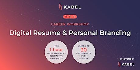 Digital Resume & Personal Branding | 1-1-1 Career Workshops biglietti