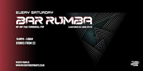 Bar Rumba // Every Saturday // £3 Drinks tickets