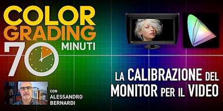 COLOR GRADING 70 MINUTI - LA CALIBRAZIONE DEL MONITOR - 14.30-26/07 biglietti