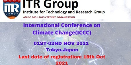 International Conference on Climate Change(ICCC) tickets