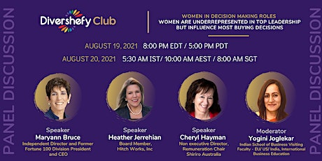 Panel Discussion - Women in Decision making roles tickets